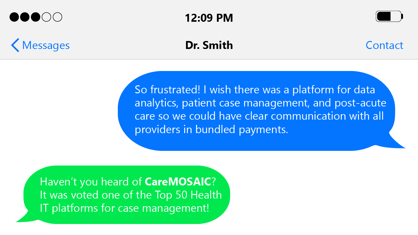 Why was CareMOSAIC voted Top 50 Health IT Platforms in the US?