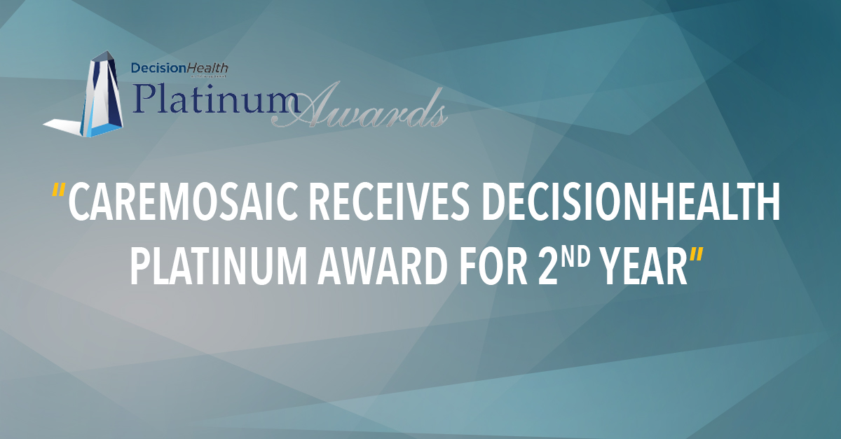 CareMOSAIC Receives DecisionHealth Platinum Award for 2nd Year